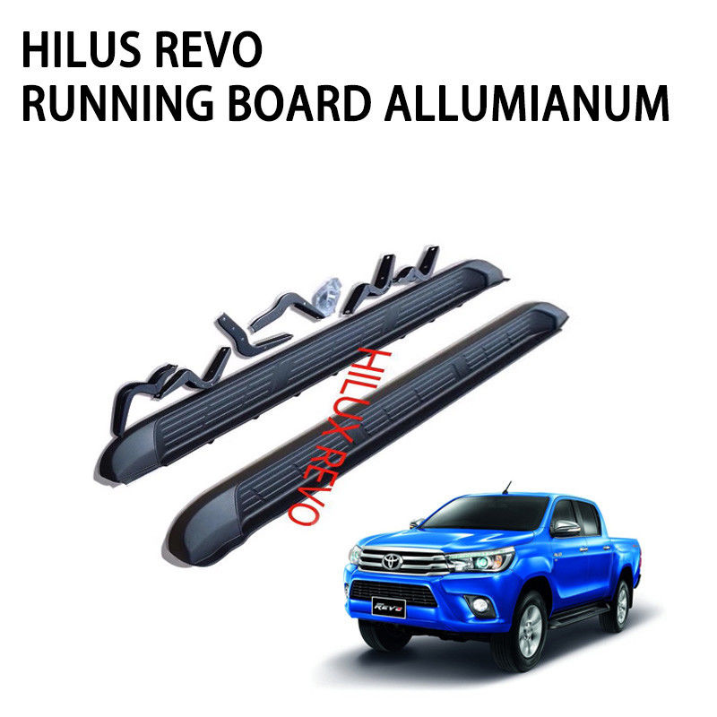 Steel Alloy Car Side Black Truck Step Bars Decoration Accessories For 2015 Toyota Hilux Revo