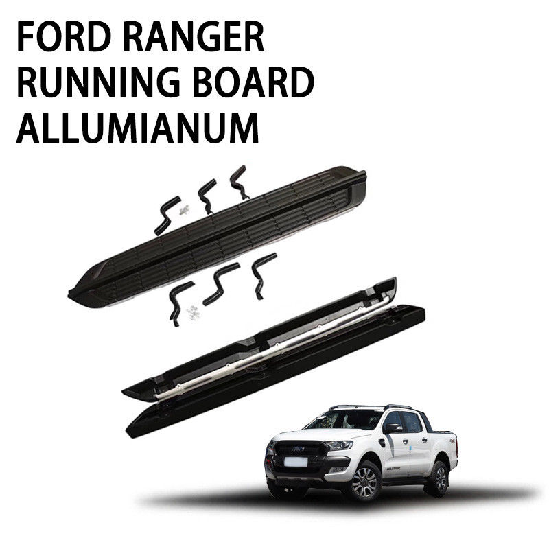 Convenient Pickup Truck Running Boards Stainless Carbon Steel ABS Plastic